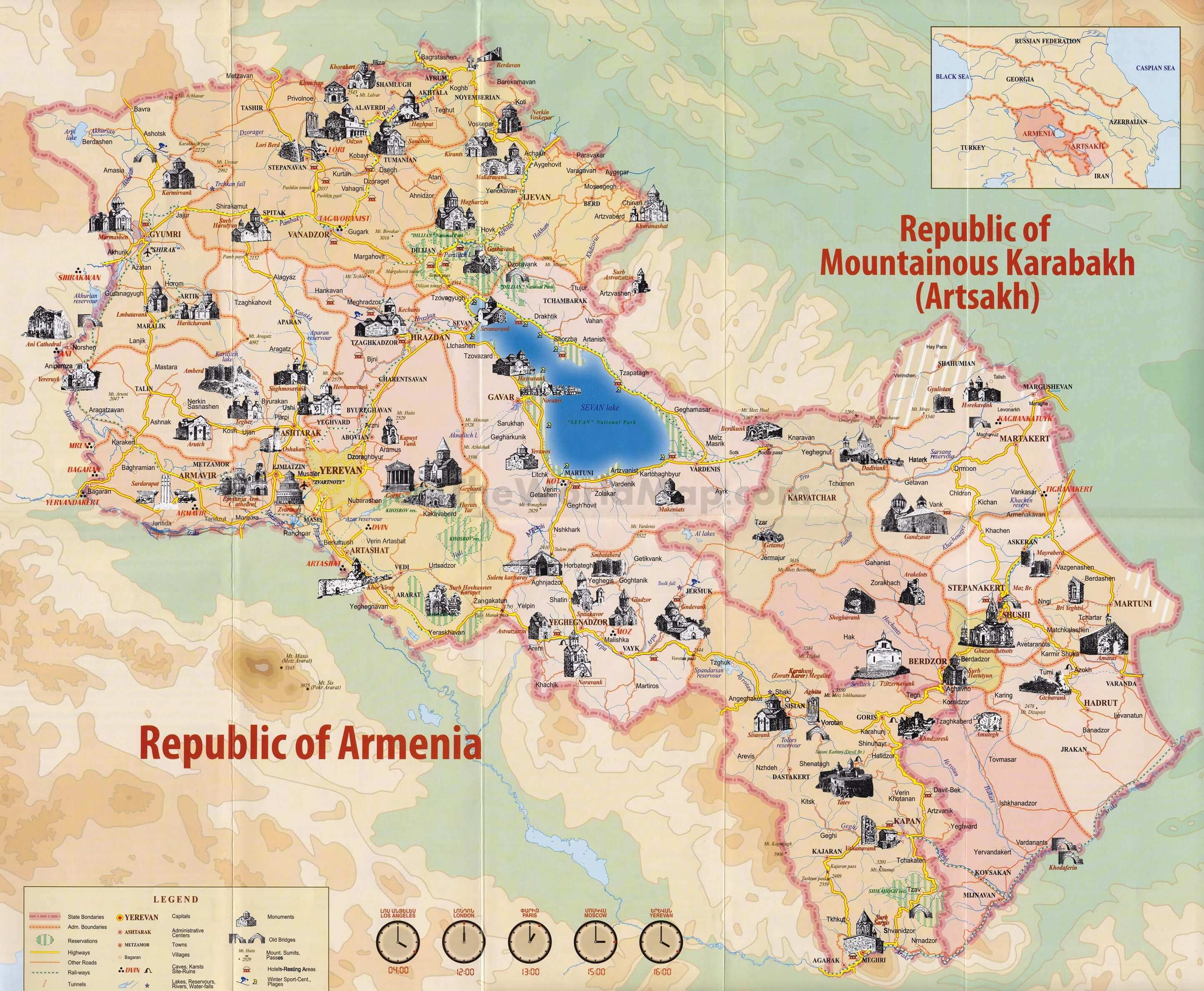 General Info And Map Of Armenia Ararat Travel
